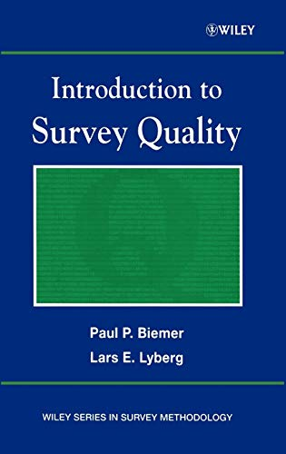 9780471193753: Introduction to Survey Quality
