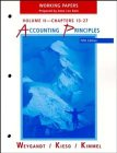 Accounting Principles, Chapters 14-27, Working Papers (Volume: Jerry J. Weygandt,