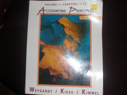 9780471194453: Accounting Principles: Self-study Problems/Solutions to 5r.e. v.1: Self-study Problems/Solutions to 5r.e. Vol 1