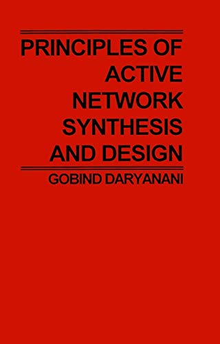 9780471195450: Principles of Active Network Synthesis and Design