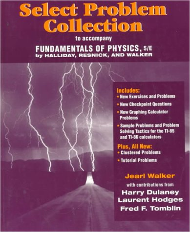 9780471197775: Select Problem Collection to accompany Fundamentals of Physics, 5e