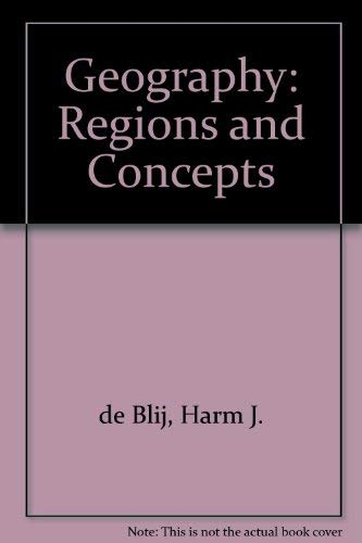 9780471200604: Geography: Regions and Concepts