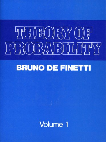 9780471201410: Theory of Probability. A Critical Introductory Treatment. Volume 1. (Probability & Mathematical Statistics) (v. 1)