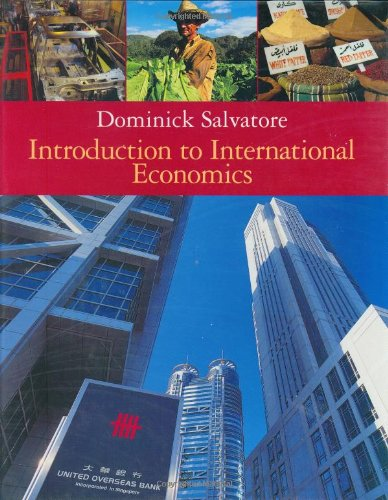 Study Guide To Accompany Introduction To International Economics: Salvatore, Dominick