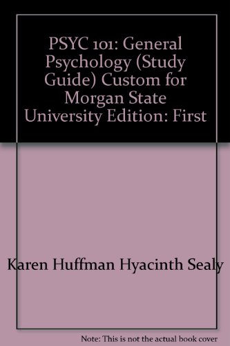 9780471202899: PSYC 101: General Psychology (Study Guide)