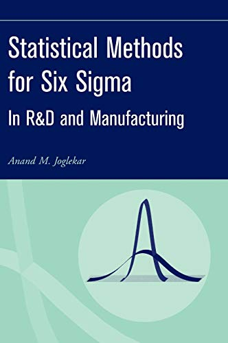 9780471203421: Statistical Methods for Six Sigma: In R&D and Manufacturing