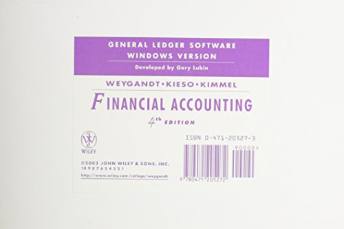Financial Accounting, General Ledger Software Windows Version: Weygandt, Jerry J.;