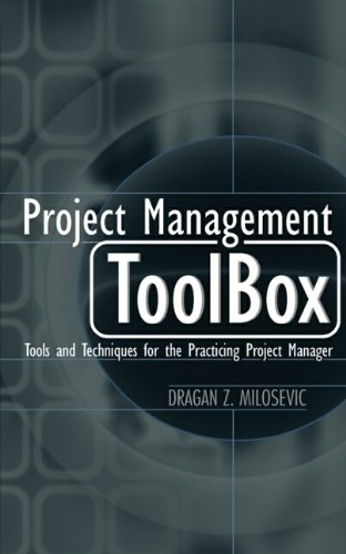 9780471208228: Project Management ToolBox: Tools and Techniques for the Practicing Project Manager