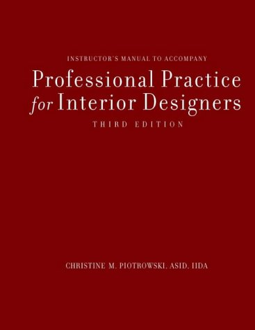 9780471210283: Professional Practice for Interior Designers: Instructor's Manual