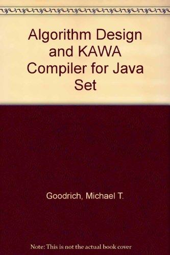 9780471212416: Algorithm Design and KAWA Compiler for Java Set