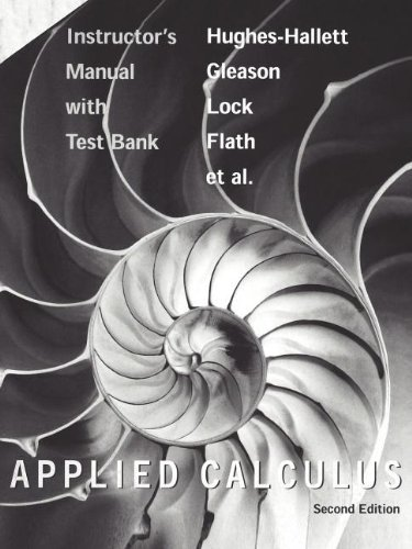 9780471213529: Instructor's Manual with Test Bank (Applied Calculus)