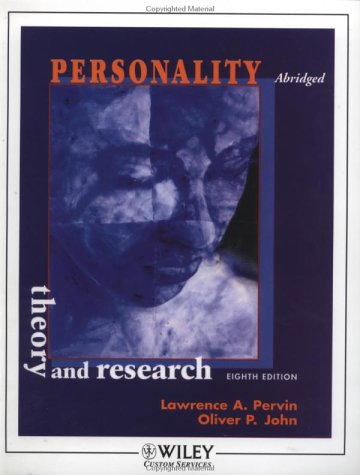 9780471214380: Personality: Theory and Research (8th Edition)