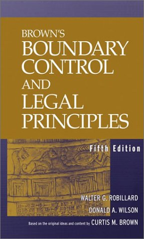 9780471215981: Brown's Boundary Control and Legal Principles