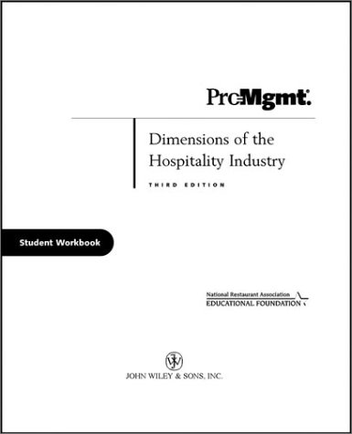 9780471216858: Dimensions of the Hospitality Industry: Student Workbook: An Introduction