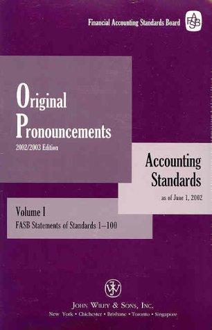 9780471218609: Original Pronouncements 2002-2003, Accounting Standards: As of June 1, 2002 (Set)
