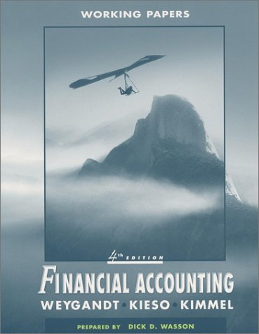 Financial Accounting, Working Papers: Jerry J. Weygandt,