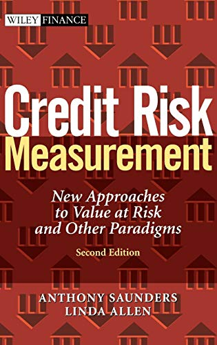 9780471219101: Credit Risk Measurement: New Approaches to Value at Risk and Other Paradigms, 2nd Edition