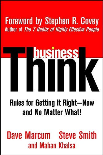 9780471219934: businessThink: Rules for Getting It Right?Now, and No Matter What!