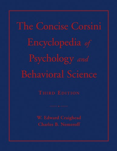 9780471220367: The Concise Corsini Encyclopedia of Psychology and Behavioral Science