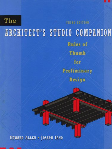 Architects' Studio Companion/Building Construction Illustrated (0471222216) by Allen, Edward