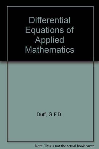 9780471223672: Differential Equations of Applied Mathematics