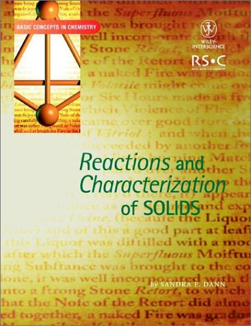 9780471224815: Reactions and Characterization of Solids (Basic Concepts In Chemistry)