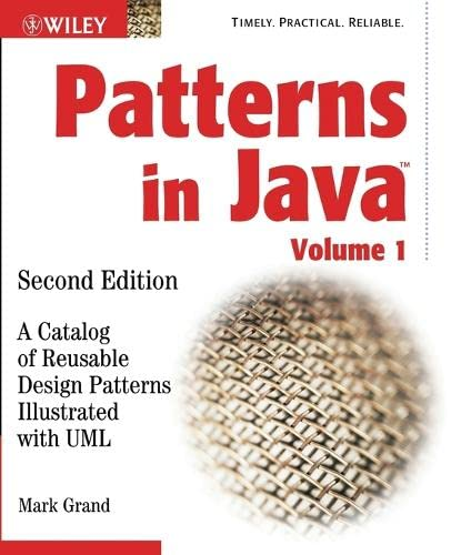 9780471227298: Patterns in Java: A Catalog of Reusable Design Patterns Illustrated with UML: Volume 1 (Computer Science)