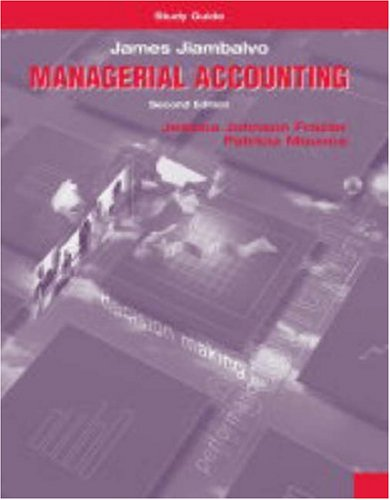 9780471229995: Study Guide to accompany Managerial Accounting, 2nd Edition
