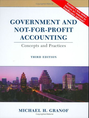 9780471230090: Government and Not-for-Profit Accounting: Concepts and Practices