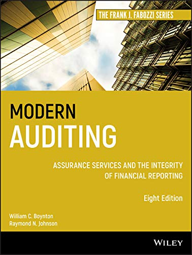 9780471230113: Modern Auditing: Assurance Services and the Integrity of Financial Reporting