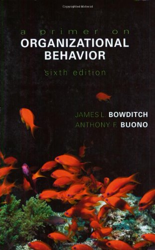 9780471230588: A Primer on Organizational Behavior (Wiley Series in Management)