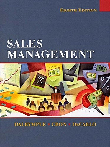 9780471230601: Sales Management: Concepts and Cases