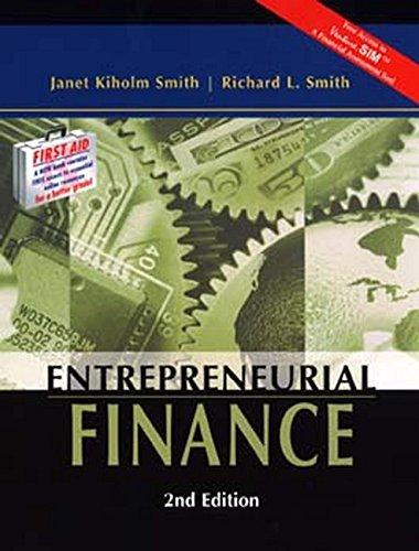 9780471230724: Entrepreneurial Finance