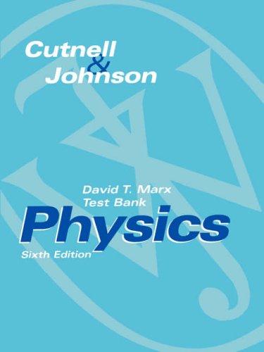 9780471231240: Test Bank to Accompany Physics