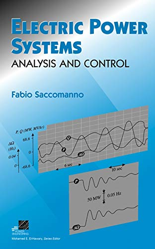 9780471234395: Electric Power Systems: Analysis and Control