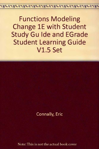 Functions Modeling Change 1E with Student Study: Connally