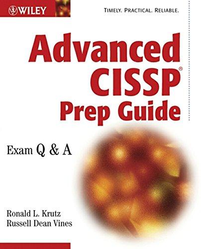 9780471236634: Advanced CISSP Prep Guide: Exam Q&A