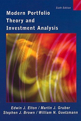 9780471238546: Modern Portfolio Theory and Investment Analysis