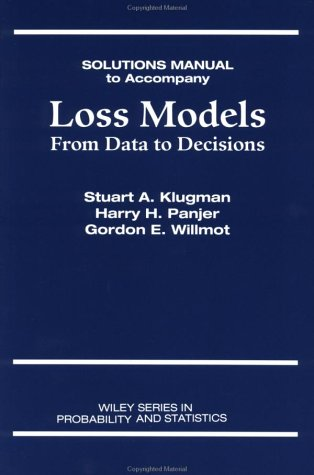 9780471238850: Loss Models: From Data to Decisions