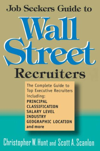 9780471239949: Job Seekers Guide to Wall Street Recruiters