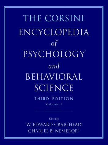 9780471240969: The Corsini Encyclopedia of Psychology and Behavioral Science, Volume 1