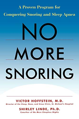 9780471243755: No More Snoring: A Proven Program for Conquering Snoring and Sleep Apnea