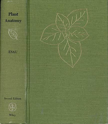 9780471244554 Plant Anatomy Abebooks Katherine Esau 0471244554