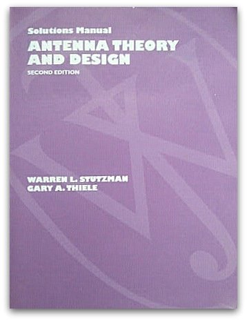 9780471244790: Antenna Theory and Design: Solutions Manual