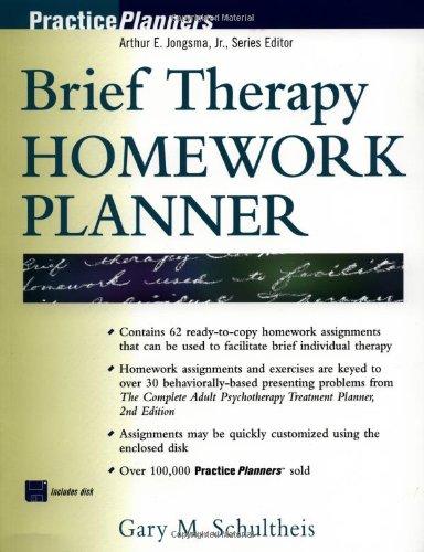9780471246114: Brief Therapy Homework Planner