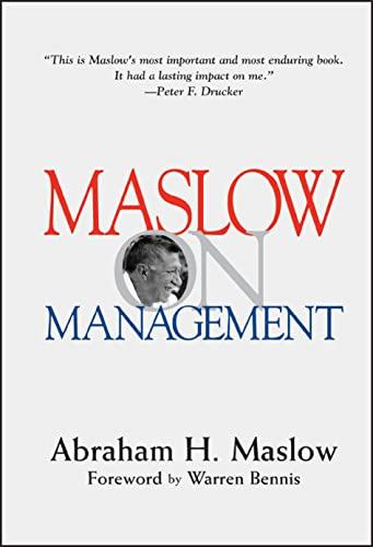 9780471247807: Maslow on Management