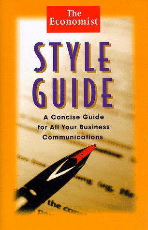 9780471248392: The Economist Style Guide: A Concise Guide for All Your Business Communications (Economist Books)