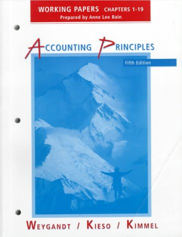 9780471248941: Working Papers: Chapters 1-19 to Accompany Accounting Principles Fifth Edition (Chapters 1-19 Vol 1)
