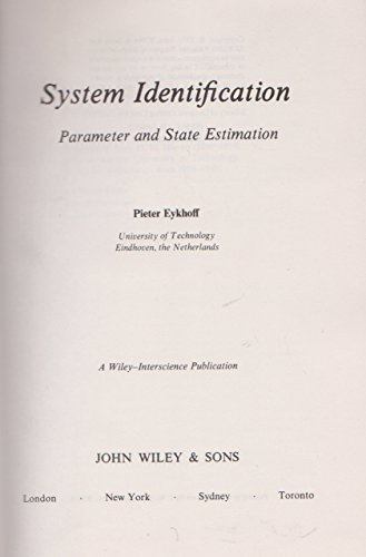 9780471249801: System Identification Parameter and State Estimation