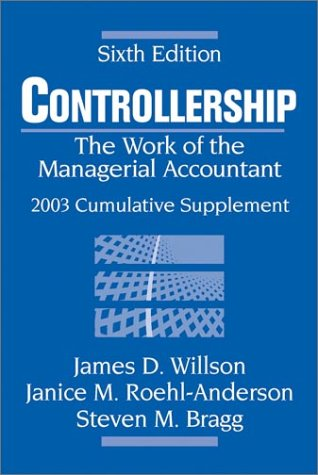 9780471250098: Controllership, 2003 Cumulative Supplement: The Work of the Managerial Accountant